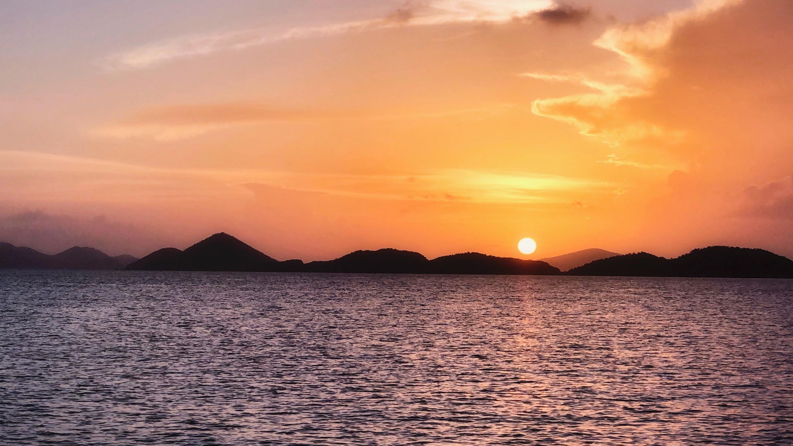 Sunset sail st john USVI